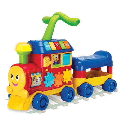 WinFun Walker Ride-On Learning Train - Blue