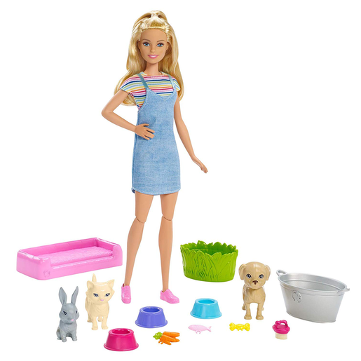 Barbie Play 'N' Wash Pets Doll and Accessories