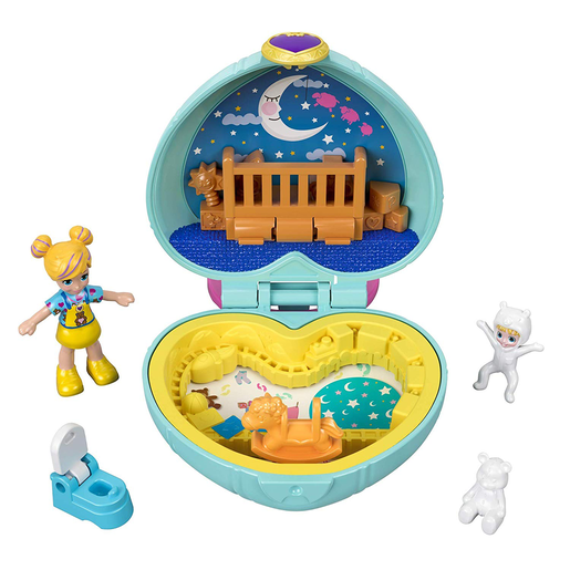 Polly Pocket Teeny Tiny Nursery Compact Playset with Doll
