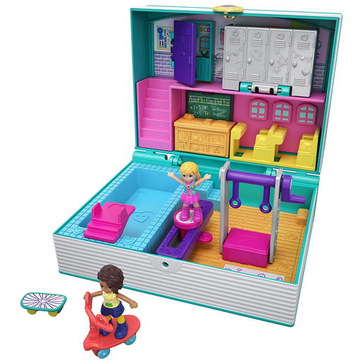 Polly Pocket Mini Middle School Compact Playset with Doll