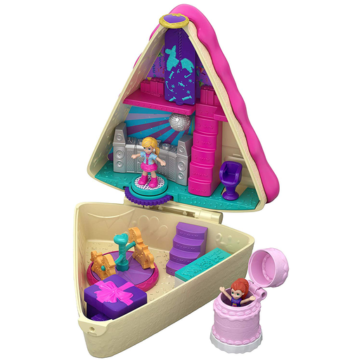 Polly Pocket Birthday Cake Compact Playset with Dolls