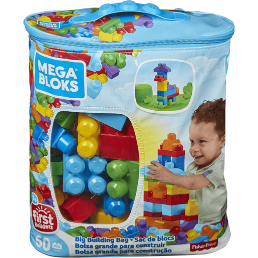 Mega Bloks First Builders Big Building Bag - 60 Pieces