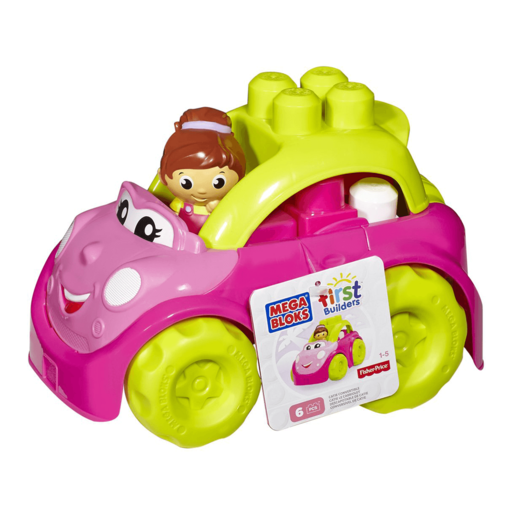 Mega Bloks First Builders Pink Lil Vehicles - 6 Pieces