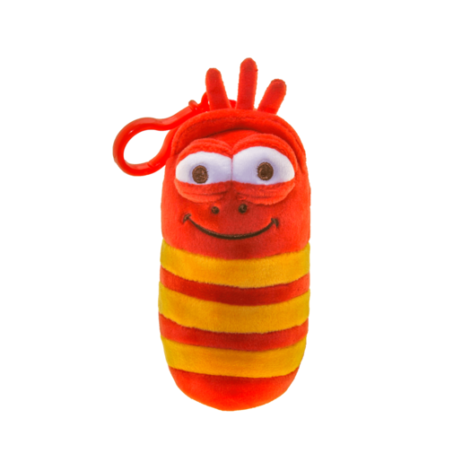 Larva Backpack Clip Soft Toy - Red