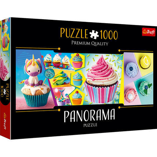 Trefl Panorama 1000 Piece Puzzle - Colourful Cupcakes