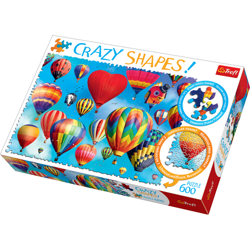 Trefl Crazy Shapes 600 Piece Puzzle - Colourful Balloons