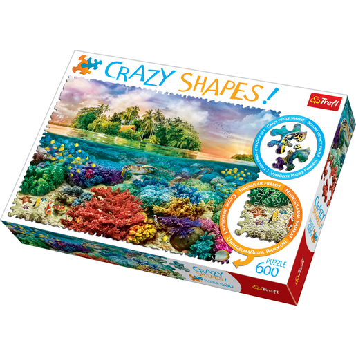 Trefl Crazy Shapes 600 Piece Puzzle - Tropical Islands