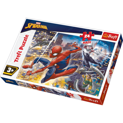 Trefl Marvel Spider-Man Fearless Spider-Man - Maxi 24 Piece Puzzle