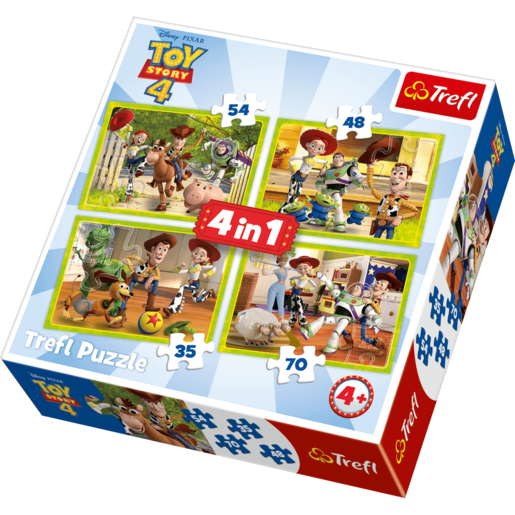Trefl - 4 in 1 Disney Pixar Toy Story 4 Puzzle Set from TheToyShop