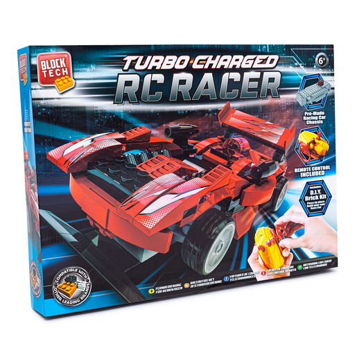 Block Tech Turbo Charged RC Racer Car - Red