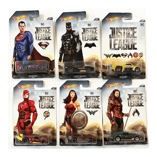 Hot Wheels DC Justice League 6 Pack Bundle