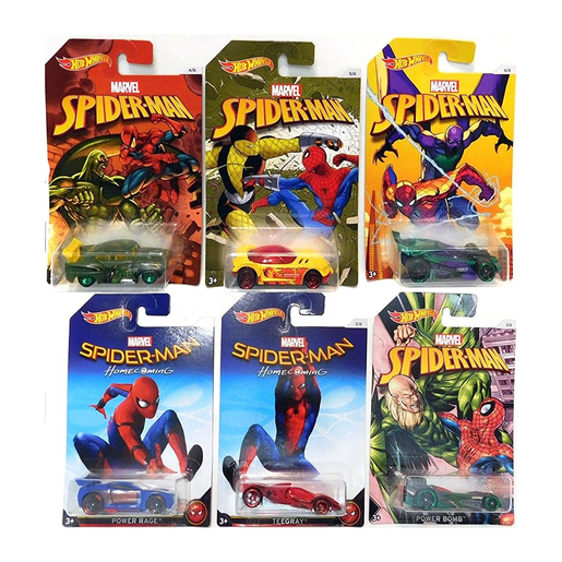 Hot Wheels Spider-Man 6 Pack Bundle