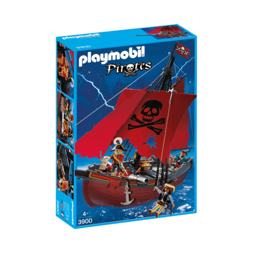Playmobil Pirates Red Corsair Pirate Ship   3900