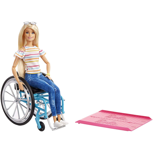 Barbie Doll and Wheelchair - Blonde Hair