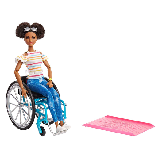 Barbie Doll and Wheelchair - Brown Hair