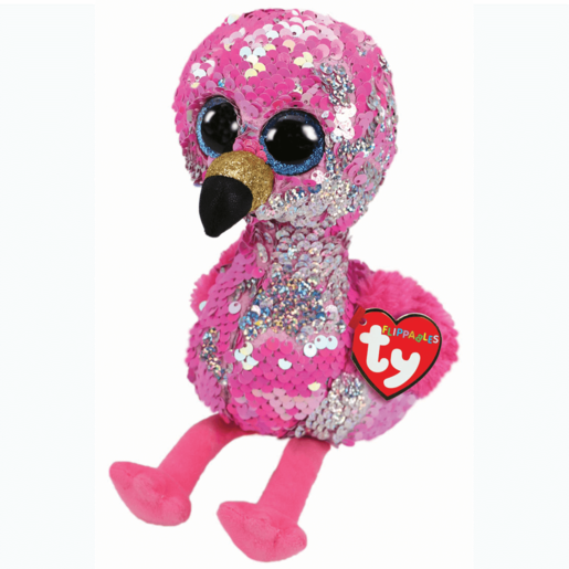 Ty Flippables 23cm Soft Toy - Pinky Flamingo