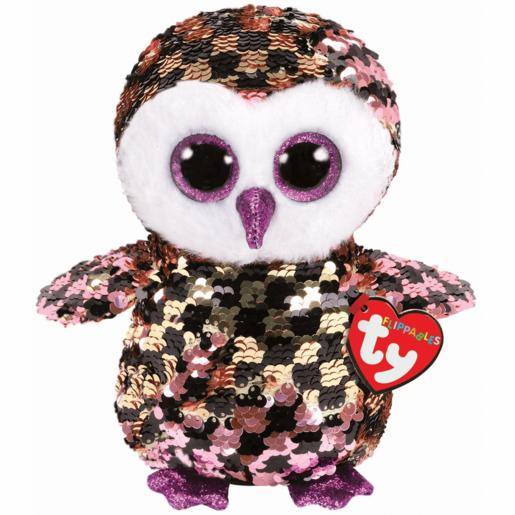 Ty Flippables 23cm Soft Toy - Checks Owl