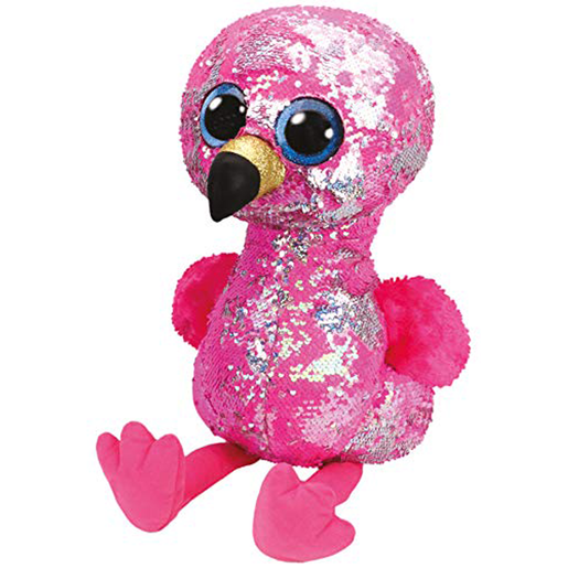 Ty Flippables Large 40cm Soft Toy - Pinky the Flamingo