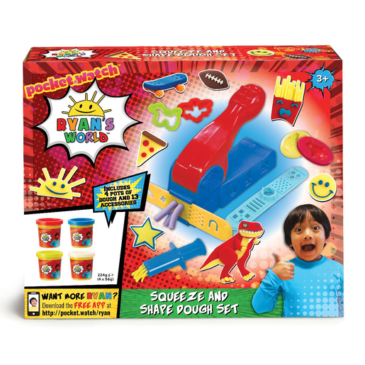 Ryan's World Squeeze and Shape Dough Set