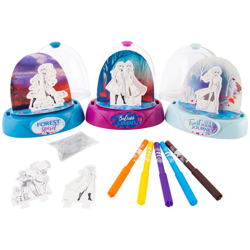 Disney Frozen 2 Design Your Own Glitter Globe - 3 Pack