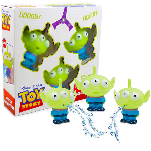 Disney Toy Story Alien 3 Pack Bath Water Squirters