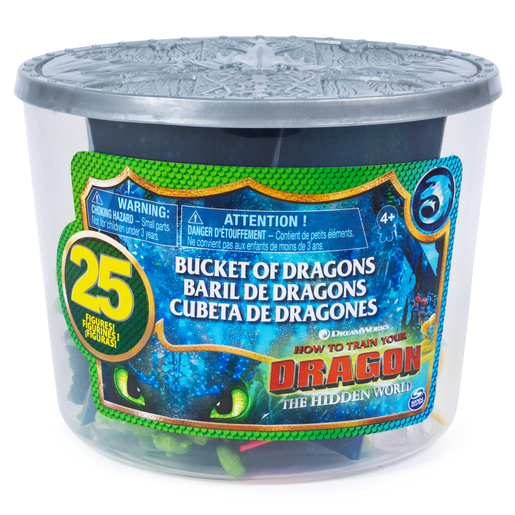 DreamWorks Dragons: Bucket of 25 Dragon and Viking Figures