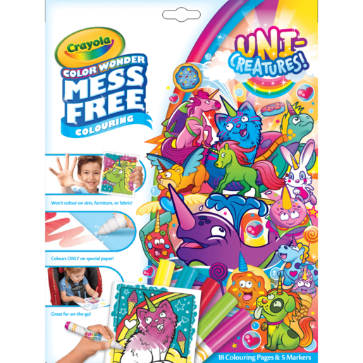 Uni-Creatures! Crayola Color Wonder Mess Free Book