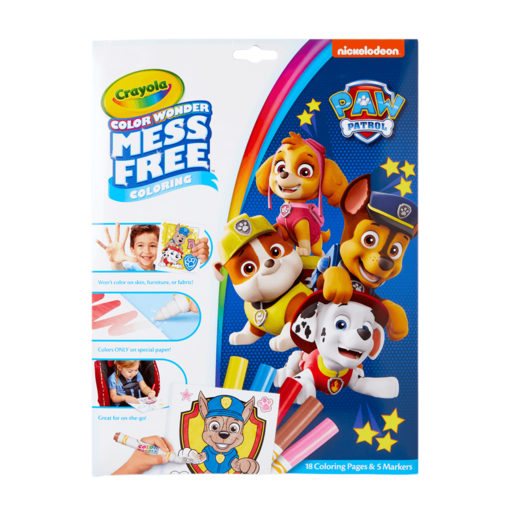 Paw Patrol Crayola Color Wonder Mess Free Book