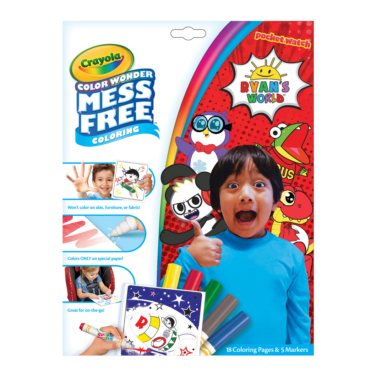Ryan\'s World Color Wonder Mess Free Book