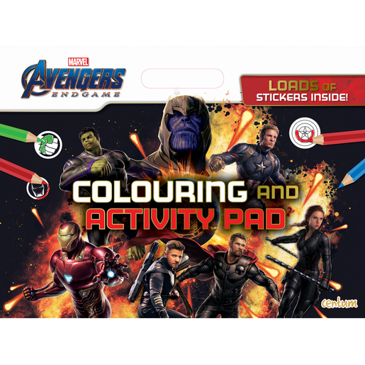 Avengers Endgame Giant Colouring & Activity Pad
