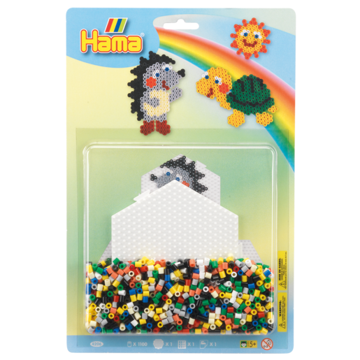 Hama Large Bead Kit - Hedgehog & Turtle Blister Pack