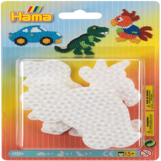 Hama Beads Small Car, Parrot and Dinosaur Pack