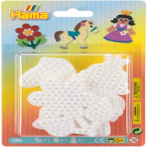 Hama Beads Small Flower, Horse and Princess Pegboard Set