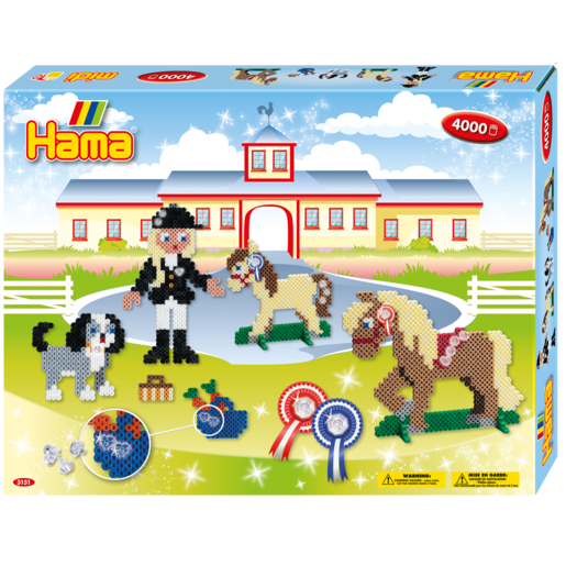 Hama Beads Riding School
