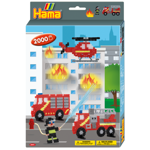 Hama Beads Firefighter Hang Box