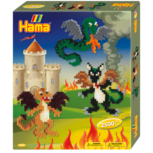 Hama Beads Dragons Gift Box