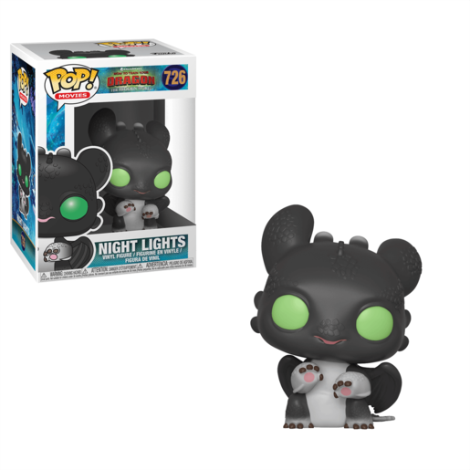 Funko Pop! Movies: How To Train Your Dragon - The Hidden World - Night Light Black with Green Eyes
