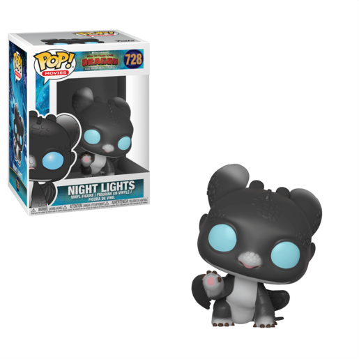 Funko Pop! Movies: How To Train Your Dragon - The Hidden World - Night Light Black with Blue Eyes