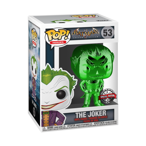 Funko Pop! Heroes: Batman Arkham Asylum - The Joker (Green Chrome)
