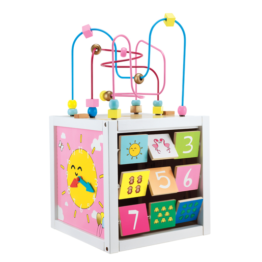 Early Learning Centre Giant Wooden Activity Cube - Pink