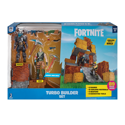 Fortnite Turbo Builder Set with 10cm Core Figures - Jonesy and Ragnorak