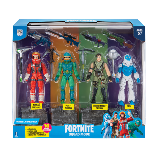 Fortnite Series 2 Squad Mode 10cm Core Figure 4 Pack