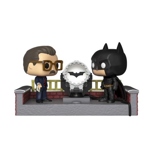 Funko Pop! Heroes: Batman Movie Moments Commissioner Gordon and Light Up Bat Signal