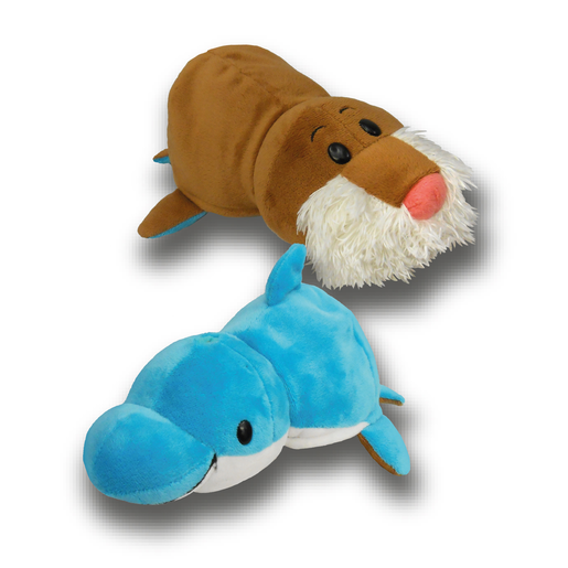 FlipaZoo Plush Soft Toy - Dolphin and Walrus