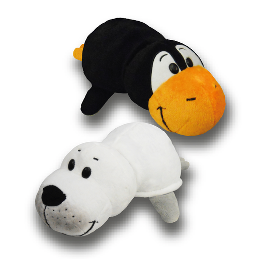 FlipaZoo Plush Soft Toy - Seal and Penguin