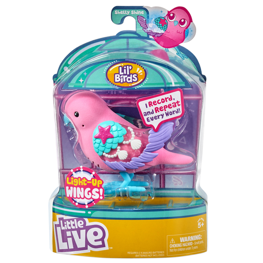Little Live Pets Lil' Birds Interactive Song Bird - Shelly Shine