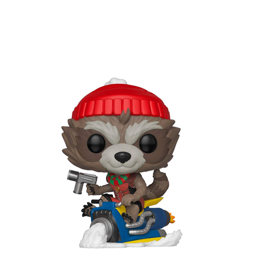 Funko Pop! Marvel: Rocket Christmas Bobble-Head