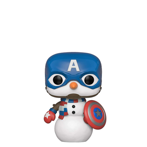 Funko Pop! Marvel: Captain America - Cap Snowman Bobble-Head