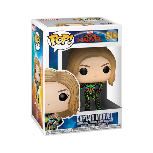 Funko Pop! Marvel: Captain Marvel - Neon Bobble-Head