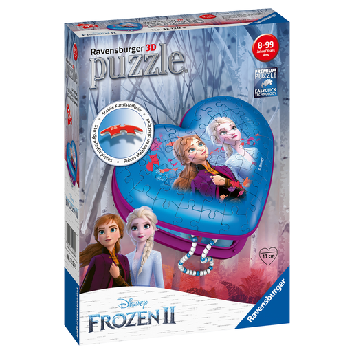 Ravensburger - Disney Frozen 2 3D Heart Shape 54pc Puzzle